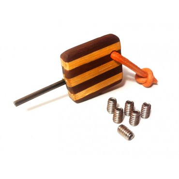 Chave de Quilha com Acabamento de Bambu + 6 Parafusos